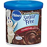 Pillsbury Creamy Supreme Sugar Free Chocolate Fudge Flavor Frosting, 15-Ounce (Pack of 6)