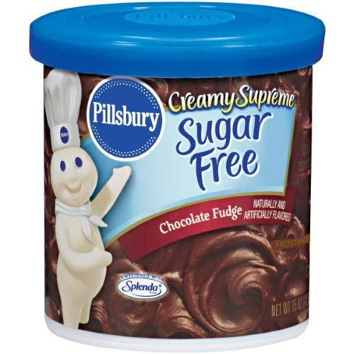 Pillsbury Creamy Supreme Sugar Free Chocolate Fudge Frosting (Pack of 18)