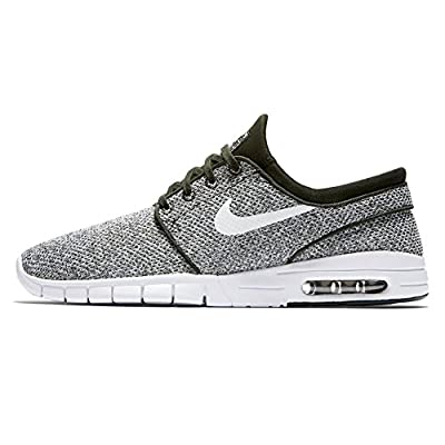 Nike Men's Stefan Janoski Max Sequoia/White-golden BeigeSneakers - 8.5 D(M) US
