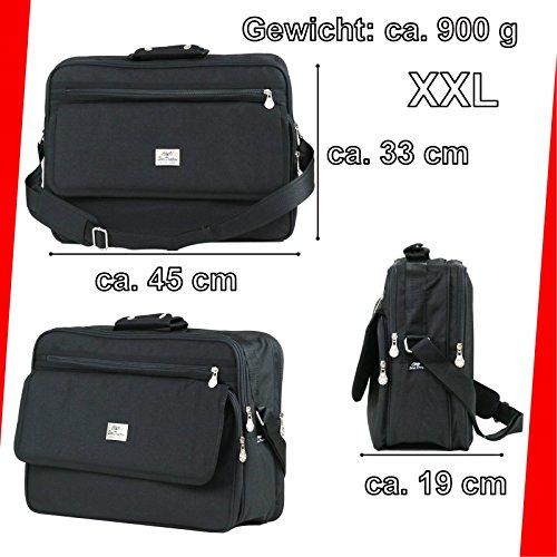 XXL Bag Funda vuelo compañero Messenger Bolso Funda de trabajo–Bolsa para hombre negro (schwarz 3)