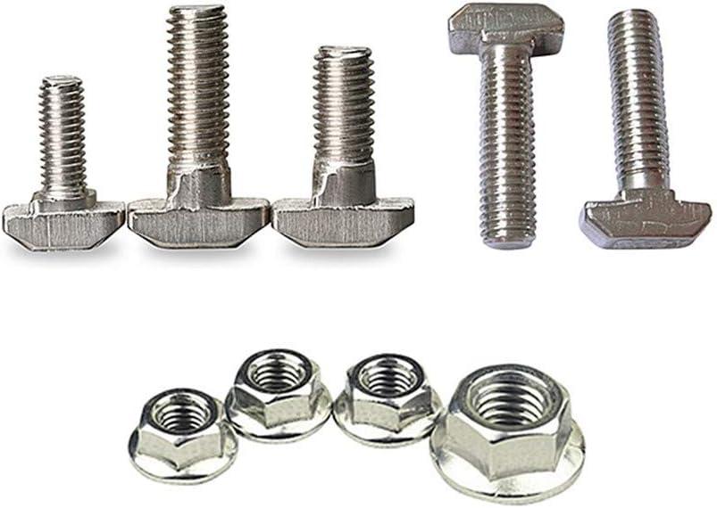 M5 M6 M8 Edelstahl Hexagon Flanschmuttern T-Nut-Drop-In-Bolzen-Schraube-Bolzen-T-Typ Muttern Fastener for Aluminiumlegierung 2020 3030 40 Gr/ö/ße : Nut M5 40pcs LLB-Nuts