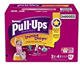 Health & Personal Care : Huggies Pull-Ups Learning Designs Training Pants for Girls, Giga Pack, Size 3T-4T, 62 Count