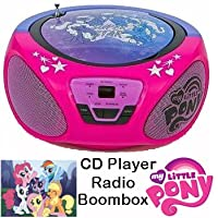 My Little Pony Boombox CD Player - Radio Portable Stereo (Mains Electric or Battery Operated)