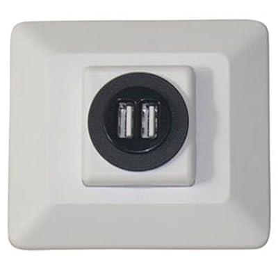 Diamond Group 61031USB Decor USB Charging Station - White, 1 Pack: Automotive