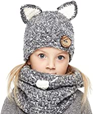 Sumolux Baby Kids Winter Warm Dinosaur Knitted Hats for 3-10T