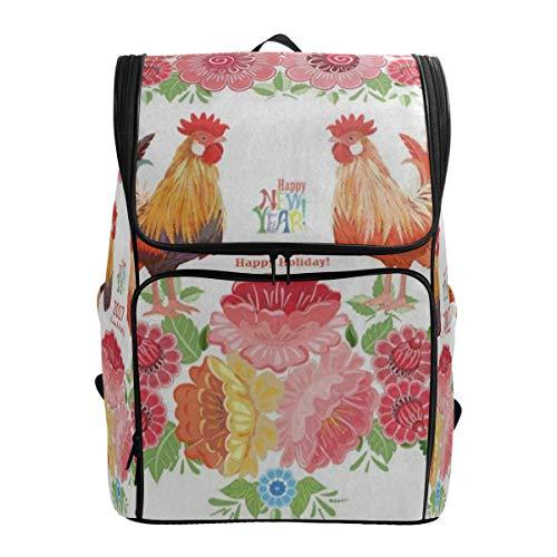 Laptop Backpack Colorful Lovely Two CockerelsDuffle Backpack for Men Big 3D Daypack (Laurex Laptop Backpack)