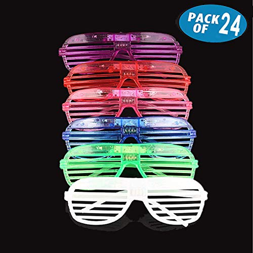 Originalidad 24 Pack LED Glasses & Kids Party
