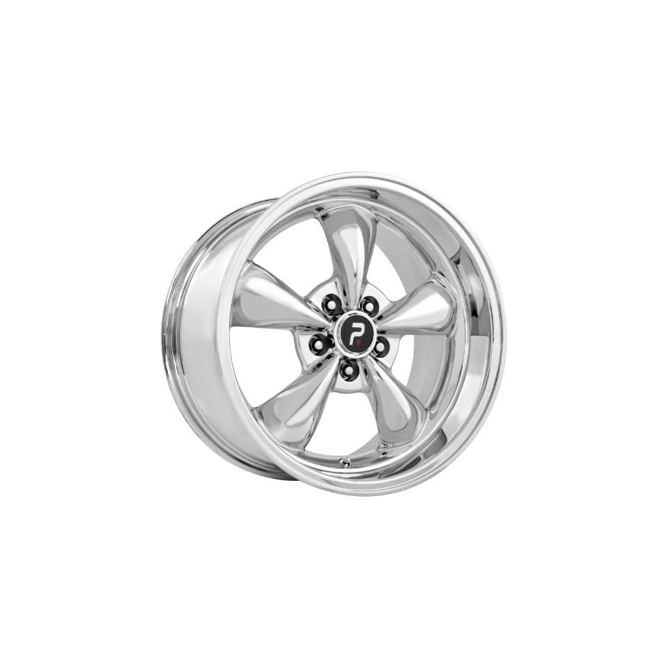 Strada Replicas 106 18 Chrome Wheel / Rim 5x4.5 with a 24mm Offset and a 70.6 Hub Bore. Partnumber 106C 816524