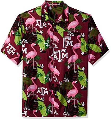 NCAA Texas A&M Aggies Foco Floral Button Up Shirt, Team Color, XL