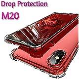 BIGZOOK Bumper Corner Protection Series Soft Transparent TPU Case Cover for Samsung Galaxy M20 (Transparent)