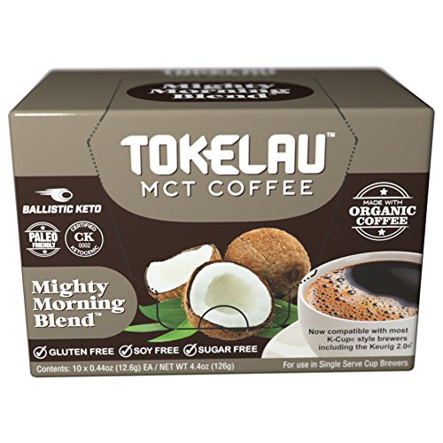 Tokelau Keto Coffee Pods with MCT oil powder C8, Ketogenic Coffee in seconds, Boost Ketones and get into Ketosis with healthy fat, Perfect for Keto and Paleo friendly, 10 servings