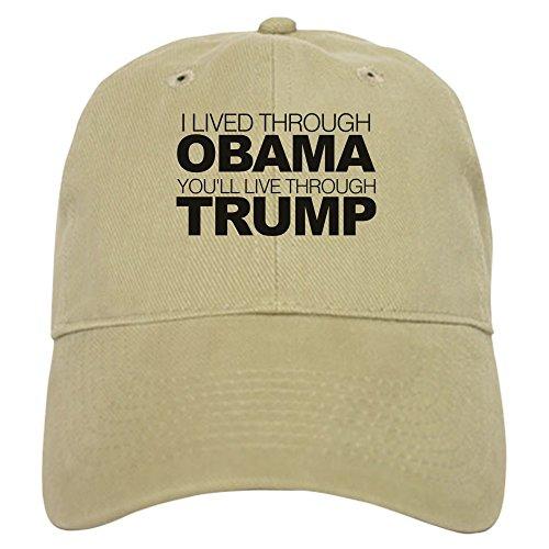 CafePress You'll Live Through Trump - Baseball Cap With Adjustable Closure, Unique Printed Baseball Hat - Anti Obama Cap