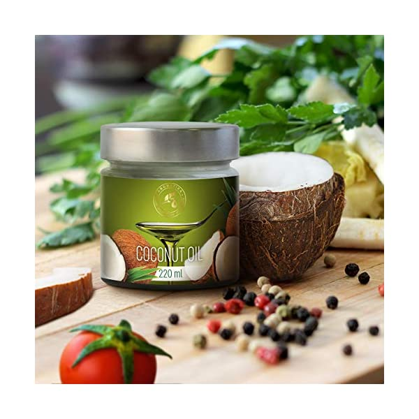 Olio di Cocco Pressato a Freddo 220ml - Indonesia - Extra Vergine - 100% Puro e Naturale - Miglior per ad Uso Alimentare 6 spesavip