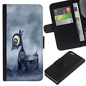 KLONGSHOP // Tirón de la caja Cartera de cuero con ranuras para tarjetas - Triste Ratón - Apple Iphone 6 //