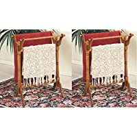 Powell Nostalgic Oak Quilt Rack