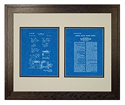 Chain Saw Machine Patent Art Print in a Rustic Oak Wood Frame with a Double Mat