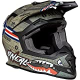O'Neal 5 Series Wingman - Casco integral unisex para adulto (talla mediana), color blanco y multicolor, Multicolor/blanco, Mediano
