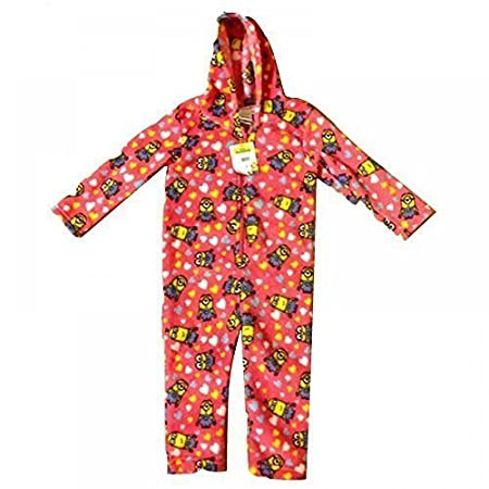 Despicable Me Minions Onesie Jumpsuit Hooded Coral Fleece Pyjamas Playsuit  Kids Childrens Girls 3 Sizes (2-3 Years)  Amazon.co.uk  Kitchen   Home 5c1469d24