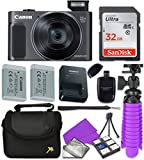 : Canon PowerShot SX620 HS Digital Camera with Sandisk 32 GB SD Memory Card + Extra Battery + Tripod + Case + Card Reader + Cleaning Kit