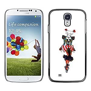 Colorful Printed Hard Protective Back Case Cover Shell Skin for SAMSUNG Galaxy S4 IV / i9500 / i9515 / i9505G / SGH-i337 ( Fashion Drawing Woman Colorful Art Clown )