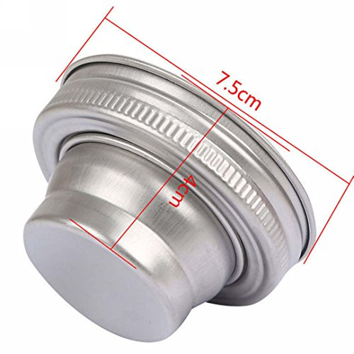 Cocktail Shaker Lid, Neaer Cocktail Shaker Lid fit for Mason Jar For 68 & 69 mm mouth Bar Drinks Mixer Lid