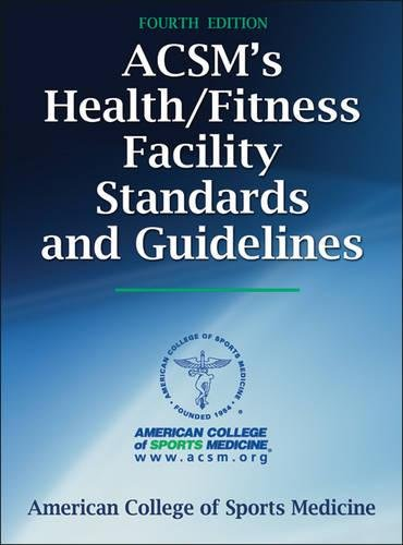 Pdf Health ACSM's Health/Fitness Facility Standards and Guidelines