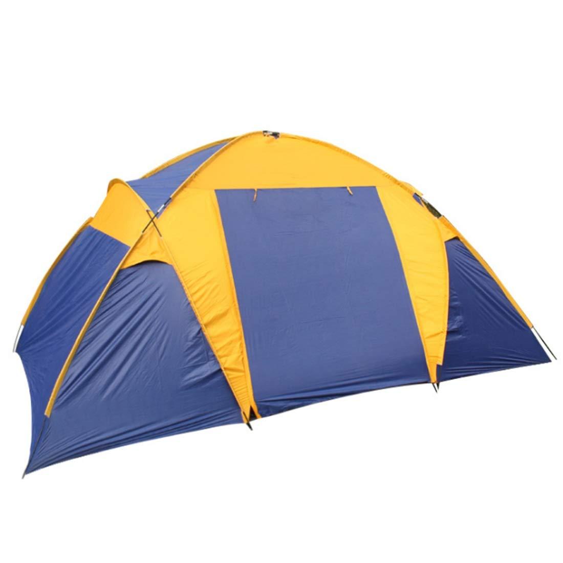 Olprkgdg Outdoor-Zelt für Wilde Camping 5 Personen Zwei Zimmer und EIN Wohnzimmer (Farbe : Blau)