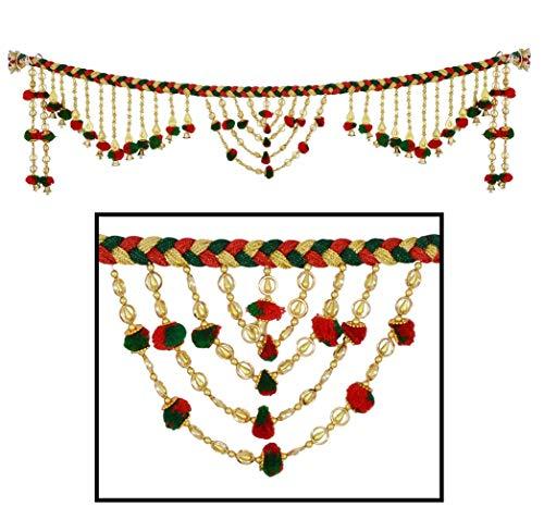 Amba Handicraft Door Hanging Toran Window Valance Dream Catcher Home Décor Interior Pooja bandanwaar Diwali Gift Festival Colorful Indian Handicraft Love.TORAN43