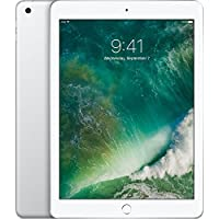 Apple iPad with WiFi, 128GB, Silver (2017 Model) (Certified Refurbished)