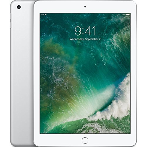 Apple iPad with WiFi, 32GB, Silver (2017 Model) (Certified Refurbish) by Apple