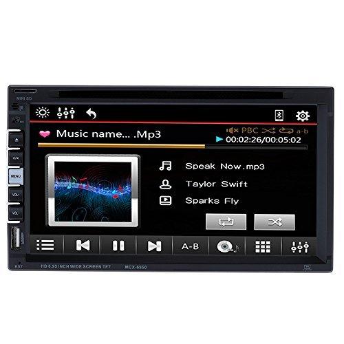 KKmoon 7 Inch Universal In-Dash Car DVD Player 2 Din Car DVD/USB/SD Player HD Beautiful UI Multimedia BT Radio Entertainment by KKmoon