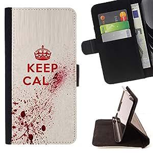 BullDog Case - FOR/LG G2 D800 / - / keep blood art royal quote red king queen /- Monedero de cuero de la PU Llevar cubierta de la caja con el ID Credit Card Slots Flip funda de cuer
