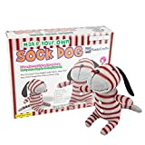 SadoCrafts Sew Your Own Stuffed Animal - Sock Doll Sewing Craft Kit, Model DOG