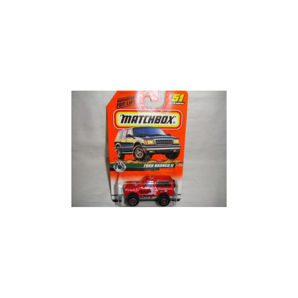 MATCHBOX #51 OF 100 ROUGHN TOUGH SERIES LUIGIS PIZZA FORD BRONCO II DIE CAST COLLECTIBLE