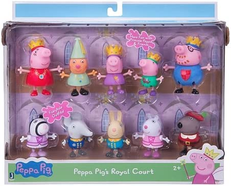 Princess Peppa pig' and friends Royal court Figure 10 Pack