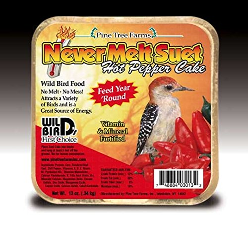 Never Melt Suet Hot Pepper Cake, 12oz ()