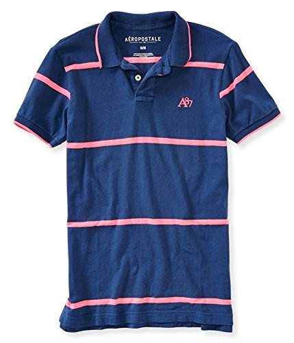 Aeropostale Mens A87 Striped Rugby Polo Shirt 015 XS