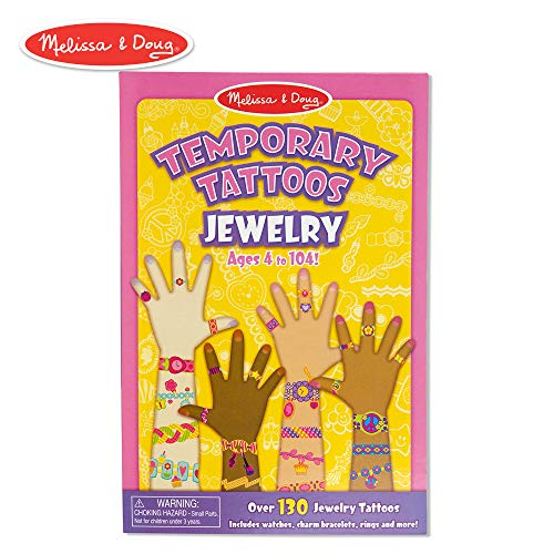 Melissa & Doug Temporary Tattoos: Jewelry - 130+ Kid-Friendly Tattoos]()