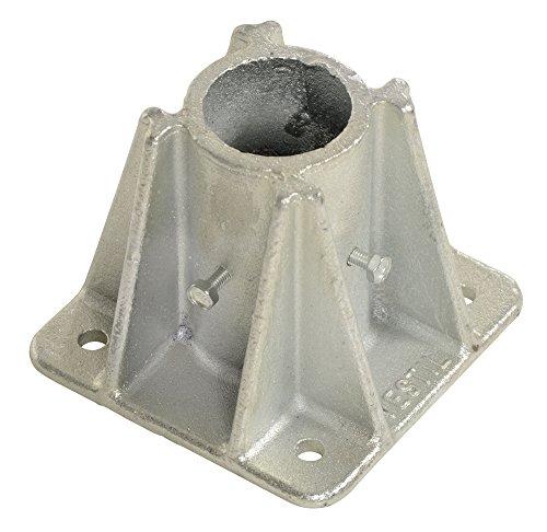 Vestil VDKR-P101 Single Socket with 4 Bolt Holes for Pipe Safety Railings ()