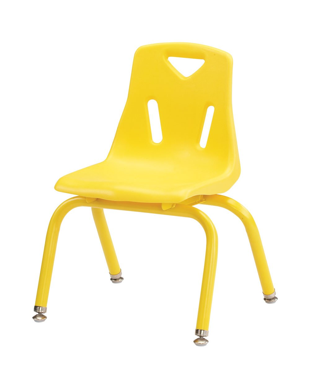 Berries Plastic Chair (Set of 6) Leg Finish: Powder Coated, Color: Yellow, Size: 8''