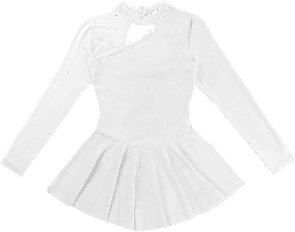 easyforever Women Leotard Dress Figure Ice Skating Ballet Gymnastics Skirt Dancewear Costume