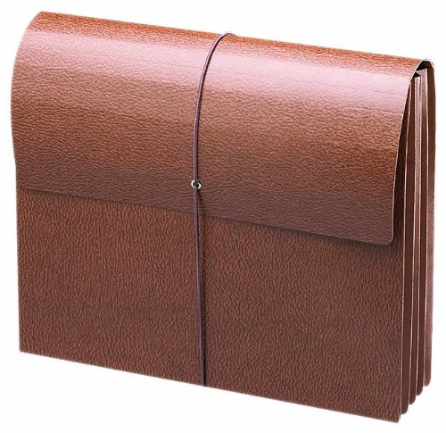 Smead Expansion Wallets, Letter, 3 1/2 Inch, Leather-Like Redrope (71353) ()