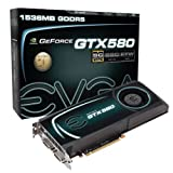 EVGA GeForce GTX 580 Superclocked 1536 MB GDDR5 PCI Express 2.0 2DVI/Mini-HDMI SLI Ready Limited Graphics Card, 015-P3-1582-AR