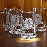 Cheap Personalized, monogrammed beer mugs SET OF 8 (M30)