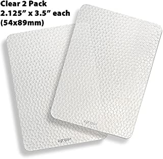 product image for egrips 2.13 x 3.5 inch 2 Pack Clear Anti-Slip Grip Sticker for Mobile Phone/Case, Apple iPhone 4 5 6 7 Plus SE Galaxy Edge Note; Apply to Flat Surfaces ONLY - NOT for Phone Sides - 54x89mm 2 Pack