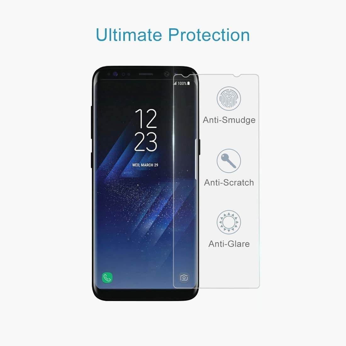 // G9550 0.26mm 9H Surface Hardness Explosion-Proof Tempered Glass Screen Film Clear 100 PCS for Galaxy S8 YINZHI Screen Protector Film