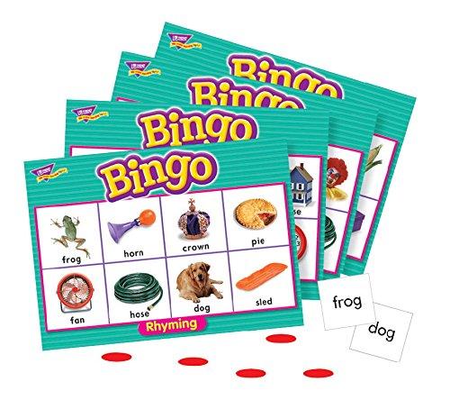 Trend Enterprises Rhyming Bingo Game - Set of 28 Word Pairs and 36 Playing Cards