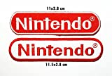 2 pieces Nintendo Video Game Logo Patch Sew Iron on Embroidered Badge Sign Costume Gift