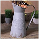 Cheap VANCORE Shabby Chic Vase Large Metal Pitcher Jug Flower Can