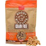 Buddy Biscuits Grain Free Soft & Chewy Dog Treats with All Natural Peanut Butter 5 oz